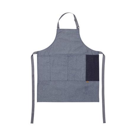 Ferm Living Tablier de cuisine Tablier en denim bleu coton 72x86cm