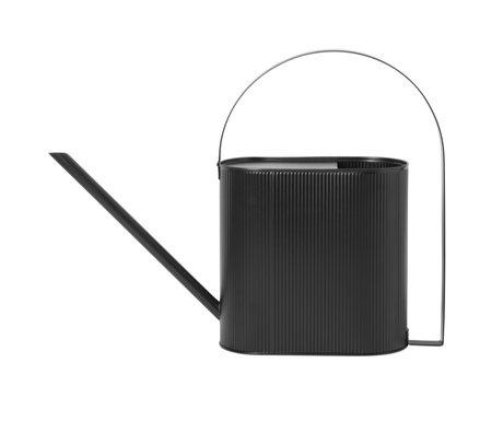 Ferm Living Arrosoir Bau Large en acier noir 13,5x56x41,5cm