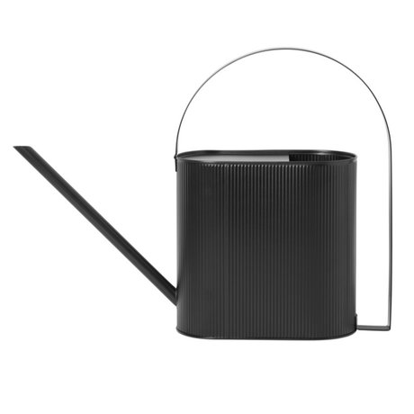 Ferm Living Watering can Bau Large black steel 13,5x56x41,5cm