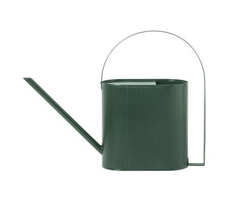 Ferm Living Gießkanne Bau Large dunkelgrüner Stahl 13,5x56x41,5cm