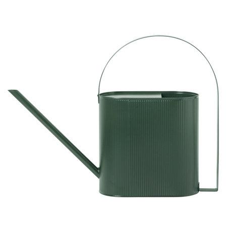 Ferm Living Arrosoir Bau Large en acier vert foncé 13,5x56x41,5cm