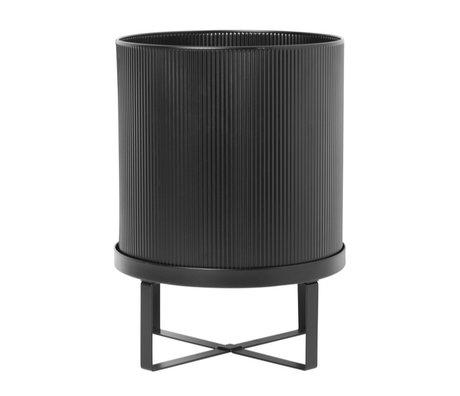 Ferm Living Pot Bau Large Ø28x38cm en acier noir