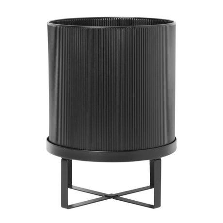 Ferm Living Pot Bau Large zwart staal Ø28x38cm