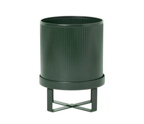 Ferm Living Pot Bau Petit Ø18x24cm en acier vert foncé