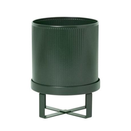 Ferm Living Pot Bau Small dark green steel Ø18x24cm