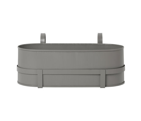 Ferm Living Planter Bau Balcony Box warm gray steel 17,8x45,3x20cm