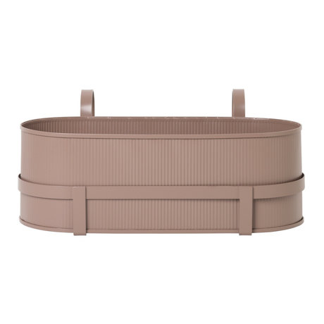 Ferm Living Plantenbak Bau Balcony Box dusty roze staal 17,8x45,3x20cm