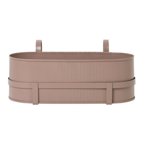 Ferm Living Planter Bau Balcony Box dusty pink steel 17,8x45,3x20cm