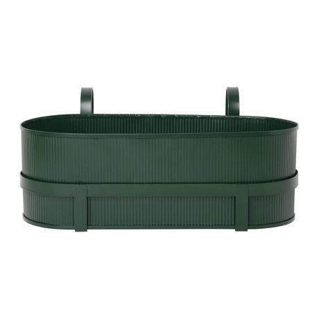 Ferm Living Plantenbak Bau Balcony Box donker groen staal 17,8x45,3x20cm
