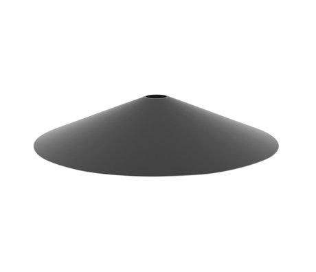 Ferm Living Abat-jour Angle métal noir Ø10,5x58cm