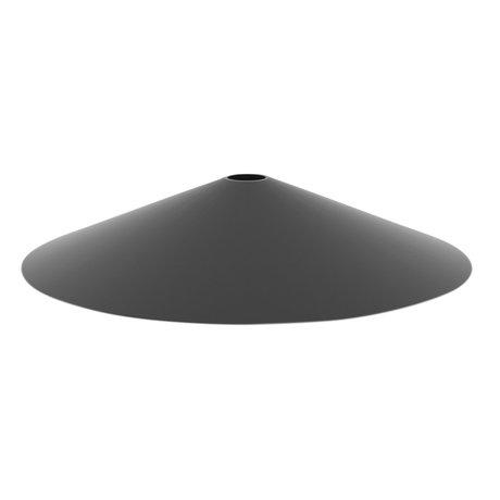 Ferm Living Lampenkap Angle zwart metaal Ø10,5x58cm
