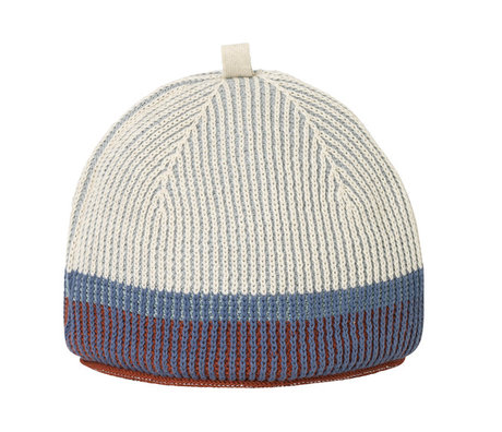 Ferm Living Teacosy Akin Knitted Tea Cozy bleu pâle 28x22cm