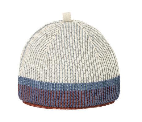 Ferm Living Theemuts Akin Knitted Tea Cozy Dull blauw 28x22cm