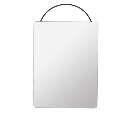 Ferm Living Spiegel Adorn Face zwart metaal 35x1,8x53cm