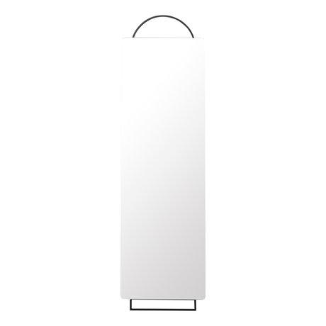 Ferm Living Spiegel verziert Schwarzes Metall 45x1,8x159cm in voller Größe