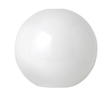 Ferm Living Lampenkap Opal Sphere wit glas Ø25x23,6cm