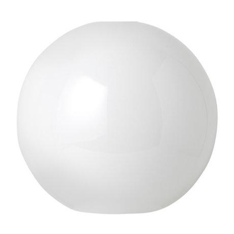 Ferm Living Lampenschirm Opal Sphere weißes Glas Ø25x23,6cm