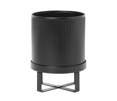 Ferm Living Pot Bau Small black steel Ø18x24cm