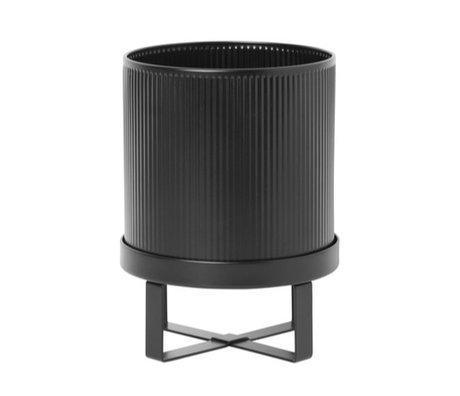 Ferm Living Pot Bau Small schwarzer Stahl Ø18x24cm