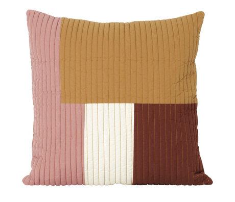 Ferm Living Kissen Shay Quilt Senfgelbe Baumwolle 50x50cm