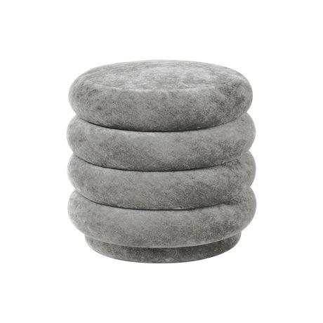 Ferm Living Poef Round concrete grijs faded velvet Ø42x40cm