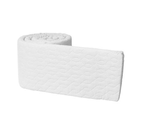 Sebra Baby Stoßstange perle weiße Baumwolle 345x3,5x30 cm