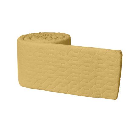 Sebra Baby bumper honey mustard yellow cotton 345x3.5x30cm