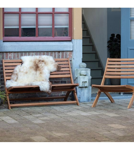 Houten Lounge Stoel Buiten.Stoel Lois Tuin Naturel Bruin Hout 60x78x73cm Wonenmetlef Nl