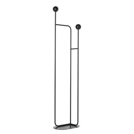 Ferm Living Stehende Garderobe Pujo schwarz Metall Holz 43x26x177,4 cm