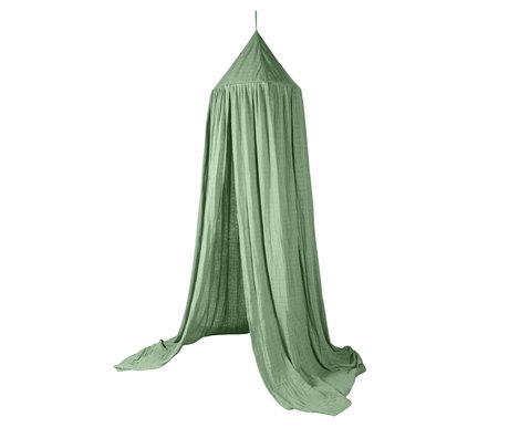 Sebra Klamboe Moss groen katoen 240x52cm