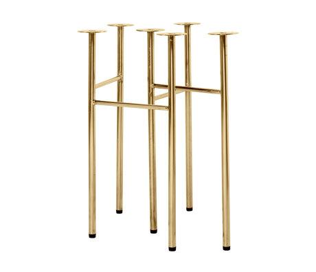 Ferm Living Tafelpoten Mingle W48 brass goud metaal set van 2 58x29,2x71cm