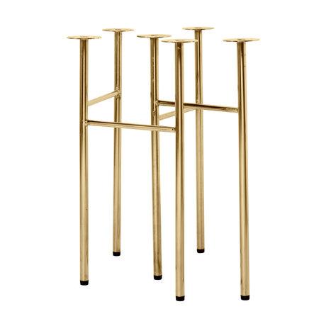 Ferm Living Pieds de table Mingle W48 laiton doré métal set de 2 58x29.2x71cm
