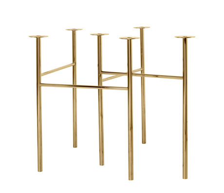 Ferm Living Table legs Mingle W68 brass gold metal set of 2 79x44.4x71cm