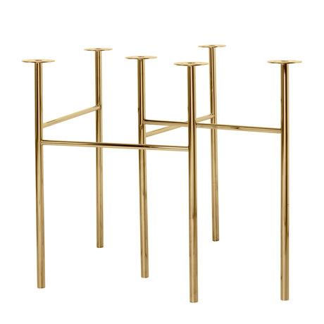 Ferm Living Tafelpoten Mingle W68 brass goud metaal set van 2 79x44,4x71cm