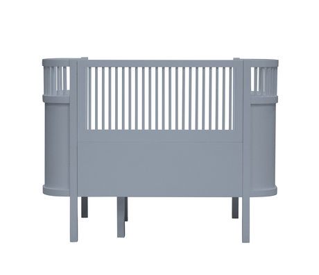 Sebra Bed baby & junior Forest lake blue wood 115.2-152.3x70x88cm