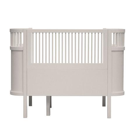 Sebra Bett Baby & Junior Birchbark Beige Holz 115,2-152,3x70x88cm