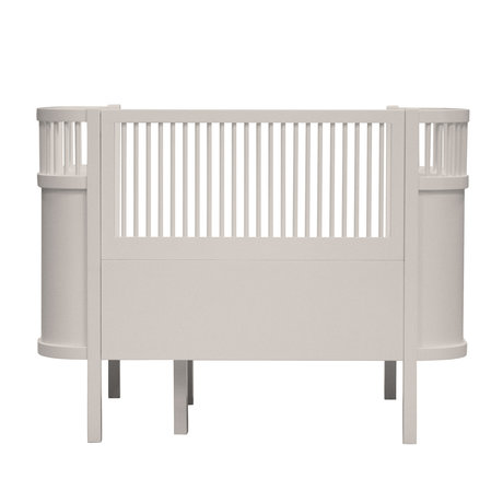 Sebra Lit bébé & junior bouleau écorce beige bois 115.2-152.3x70x88cm