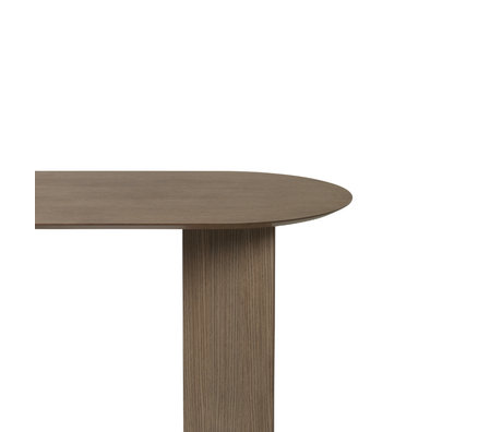 Ferm Living Tabletop Mingle Oval dark stained brown wood linoleum 150cm