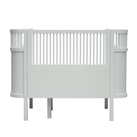 Sebra Bett Baby & Junior Mist grün Holz 115,2-152,3x70x88cm