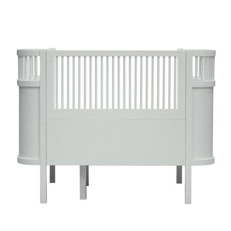 Sebra Lit bébé & junior brume bois vert 115.2-152.3x70x88cm