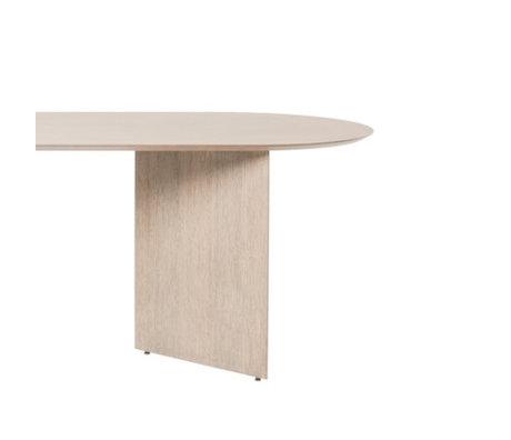 Ferm Living Tischplatte Mingle Oval natürliches Eiche braunes Holz Linoleum 150cm
