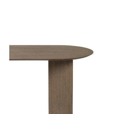 Ferm Living Tafelblad Mingle Oval donker gebeitst bruin hout linoleum 220cm