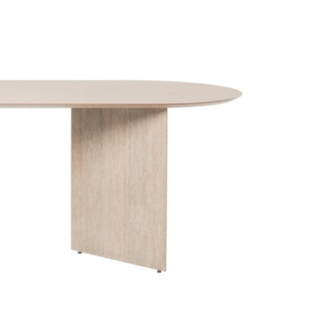 Ferm Living Tischplatte Mingle Oval natürliches Eiche braunes Holz Linoleum 220cm