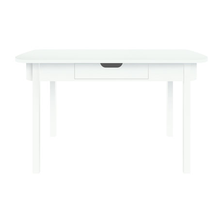 Sebra Schreibtisch Schreibtisch aus weißem Holz 100x60x73.5cm