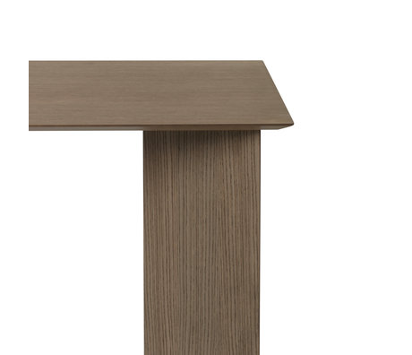 Ferm Living Tischplatte Mingle Rechteckiges dunkel gebeiztes braunes Holz Linoleum 160cm