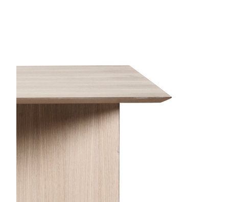 Ferm Living Tafelblad Mingle Rectangular naturel eiken bruin hout linoleum 160cm