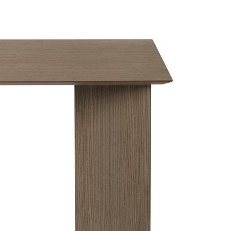 Ferm Living Tischplatte Mingle Rechteckiges dunkel gebeiztes braunes Holz Linoleum 210cm