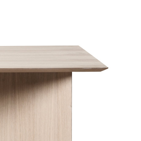 Ferm Living Linge de table en linoléum en bois de chêne brun, naturel, triangulaire 210cm
