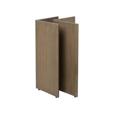 Ferm Living Tischbeine Mingle W48 dunkel gebeiztes braunes Holz 58x29.4x71.6 cm
