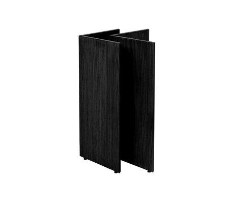 Ferm Living Pieds de table Mingle W48 bois noir 58x29.4x71.6 cm